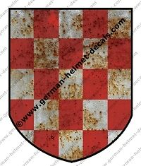 Pre-aged-WW-II-German-helmet-decal-Croatian-legion-volunteer-for-M35-M40-M42