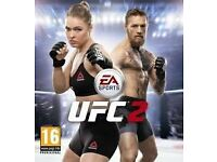 xbox one game- ufc 2 (mint cond)