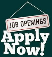 JOB OPENINGS - DON'T MISS OUT!!  APPLY TODAY!!