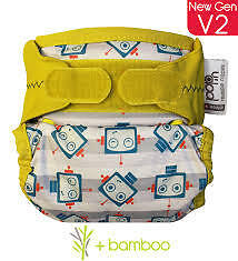 Close Pop In Nappy in Robot