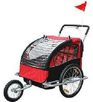 bike trialer that converts to a stroller