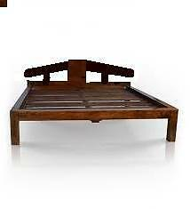 wooden queen bed frame + 1 bedside table Campsie Canterbury Area Preview