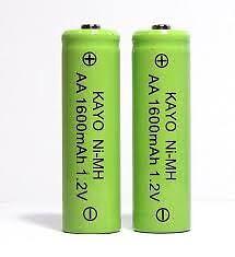 NiMH solar light Batteries.