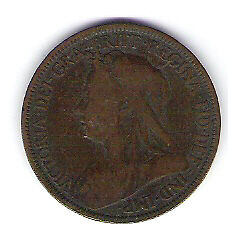 Coin 1896 Great Britain 1/2 Cent Penny Kingston Kingston Area image 1