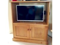 TOP QUALITY HANDMADE SOLID OAK TV CABINET