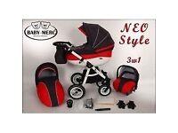 3 in 1 pram baby Merc NEO style Prams & Strollers in Southside