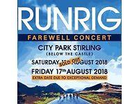 Runrig 17th august 2018