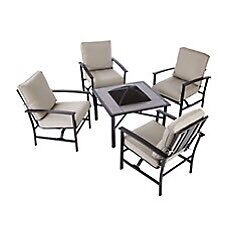 Outdoor Patio Set with Fire Pit Table