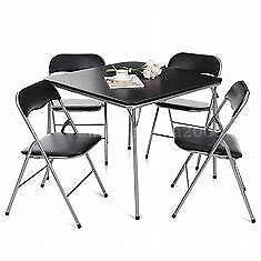 FOLDING DINING SET - BLACK