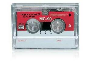 Answering Machine Microcassette Tape MC-5: 5 minute tape