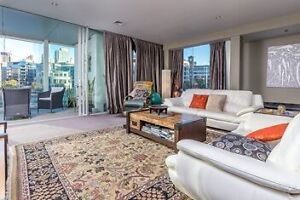 Modern white leather lounge suite Millers Point Inner Sydney Preview