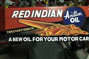 Red Indian Oil Sign / Gas Pump