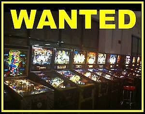 ANTIQUE PINBALL MACHINES WANTED