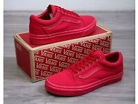 e6a6970ced Old Skool Vans Authentic Red (Crimson)