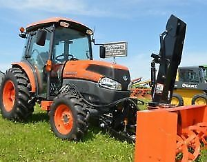 Kubota Tractor with Snow Blower & Loader Attachment