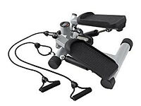 Carl Lewis Mini Hip Twisting Aerobic Exercise Stepper with Bungee Cords