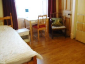 Spacious bed-sitting room in private house, Morningside, excellent local facilities.
