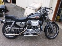 1986 Harley Sportster, Trade on 4 whler/snwmobl//boat/plow truc