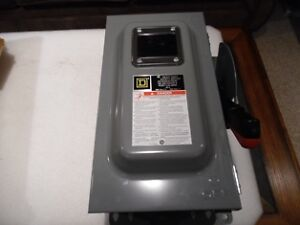 Square D 60 amp Heavy Duty Switch CHU362AWK 240/480/600 New  Br