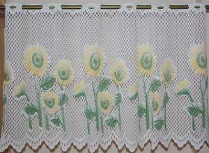 Valence dentelle tournesols fenêtre - sunflower lace valance
