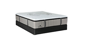 2 YEAR OLD QUEEN MATTRESS, BOX SPRING & BED FRAME