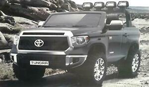 Officially Licensed Huge Two Seater Toyota Tundra 24V Child Ride-On Toy Vehicle with Leather Seat, Seat Belts, Remote