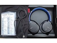 SONY MDR-ZX770BN WIRELESS NOISE CANCELLING BLUETOOTH PREMIUM HEADPHONES BLUE
