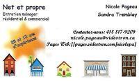 Entretien de votre maison ou votre commerce