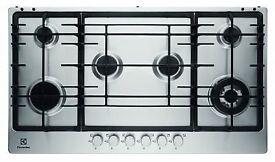Brand NEW - Electrolux EGG9363NOX S/Steel Built in 6 Burner Gas Hob - BARGAIN PRICE £90