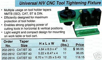 Universal Cnc Milling Tool Tighening Fixture Cat Bt40