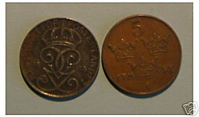 1 x 5 ore  1950  Suède