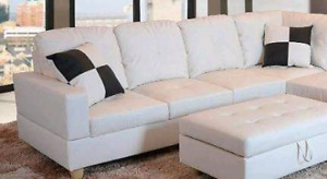 Beverly Furniture white Right arm sofa only