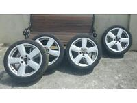 """18"""" audi alloys with tyres"""