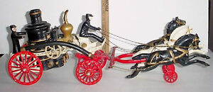 Antique Cast Iron 23 in Horse drawn Fire engine pump London Ontario image 3