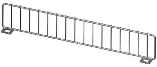 "Gondola Shelf Divider 750-15""Lx 3""H Front Fence 90-3x48 Lozier Madix Compatible"