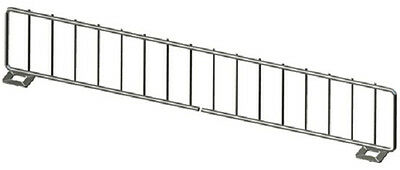 Gondola Shelf Divider Fence Chrome Lozier Madix Usa Made 13lx 3h Lot Of 50 New