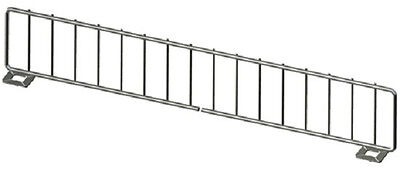 "Gondola Shelf Divider Fence Chrome Lozier Madix USA Made 19""Lx 3""H Lot of 50 NEW"