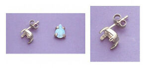 Two-Pear-Cabochon-925-Sterling-Silver-Earring-Castings-5x3mm-to-18x13mm