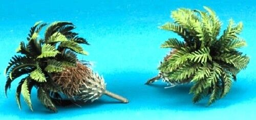 Dollhouse Miniature Sago Potted Palm Trees -- 2 Pieces