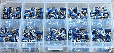 200pcs 10 Values Potentiometer Variable Resistor Assortment Box Kit