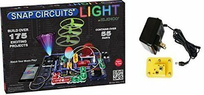 Snap Circuit Light (Elenco Snap Circuits SCL-175 Lights Set Bundle with Battery Eliminator (2)