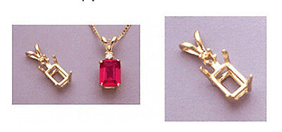 14kt White Or Yellow Gold Emerald Single Accented Pendant...