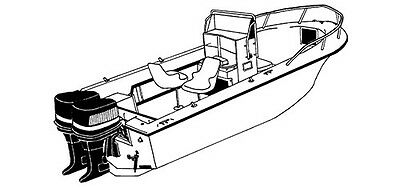 STYLED TO FIT BOAT COVER for ROBALO R240 R 240 CC W/ TWIN O/B 2012-2014