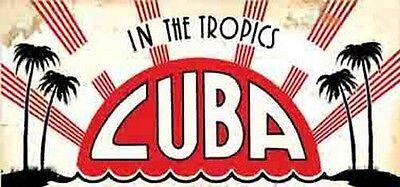 Havana Habana  CUBA   Vintage-1950's  Style  Travel Decal  (1950's Havana Fashion)