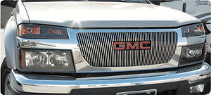 Gmc Canyon, one peice stainless steel grill.