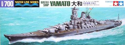 Tamiya 31113 1/700 Scale Model Waterline Kit WWII IJN Battleship Yamato