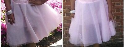 Plus Size Tutu Skirt (Tulle Ballet Women Pink A Line Flare Tutu Party Skirt Plus Size 3X)