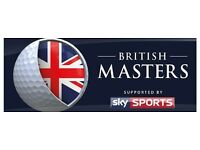 2 Tickets to the British Masters 13th October