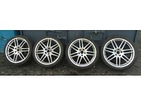 "19"" Audi Rs4 reps with tyres (3reps 1genuine wheel)"