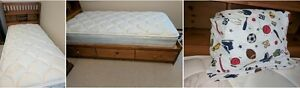 Single Captain Bed and Mattress